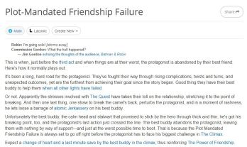 Plot-Mandated Friendshp Failure